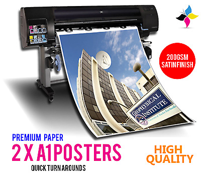 2x A1 Full Colour Poster Print / Printing - 200gsm Satin Paper High Quality