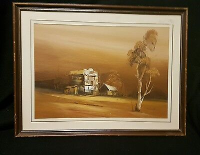 Beautiful original landscape painting signed artwork
