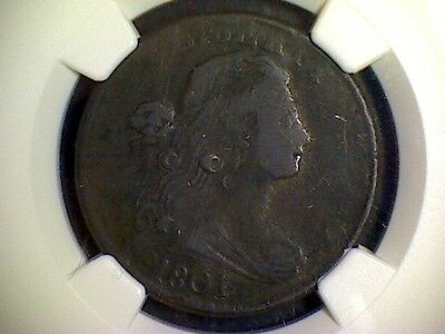 1801 Draped Bust Large Cent - Early Copper - NGC F details