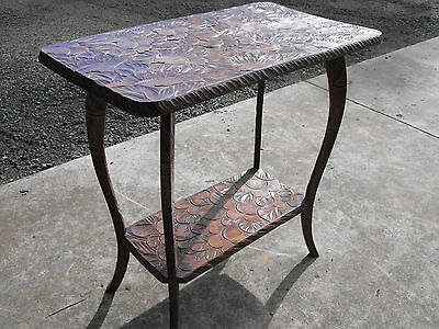 Antique Edwardian Hand Carved Solid Timber Occasional-Side Table Fantastic Piece