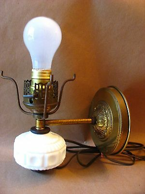 Vintage electric wall sconce (corded wth plug) in working condition w/some wear