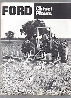 1982 Ford Tractor Chisel Plows Plow Equipment Brochure