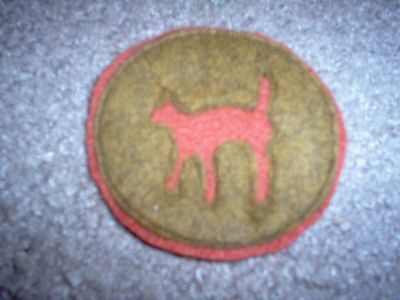 "WWI US Army 81st Infantry Division,Signal unit ""Wild Cat"" Patch  AEF"