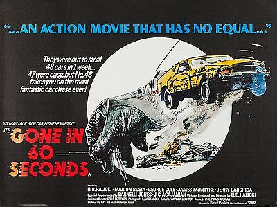 "Gone in 60 Seconds 16"" x 12"" Reproduction Movie Poster Photograph"