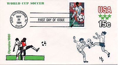 US FDC #2834 Soccer, S & T Cachets (1581)