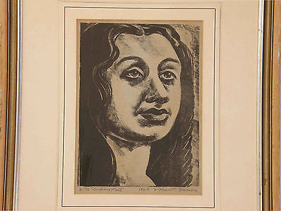ca 1942 'INDIAN MAID' William T. Damon Vintage Etching Engraving Signed & Number