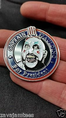 Captain Spaulding for President Rob Zombie House horrors hat lapel bassnect pin