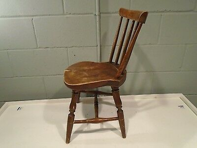 Antique Childs Chair Doll Chair Country Vintage 1800s High Back Small Chair