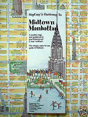 NEW-2006 MAP of MIDTOWN MANHATTAN, N.Y,MapEZ Guide w/5th Ave,TheaterDist,Subway
