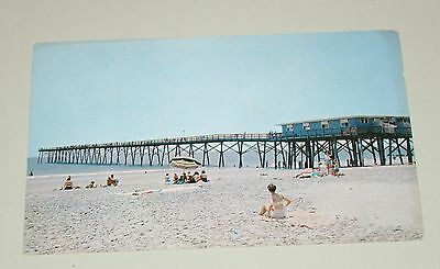 Vintage Crystal Fishing Pier Wrightsville Beach NC North Carolina Postcard - Unu