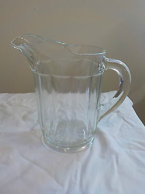 vintage GLASS BEER JUG (PUB JUG)