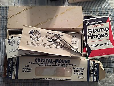 Stamp Hinges Crystal Mounts Protective Mounts Nice Lot