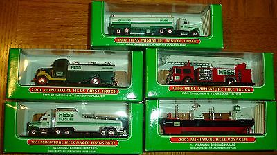 Hess Mini Truck Collection Lot