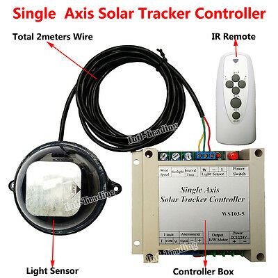Solar Tracker Tracking Single Axis Electronics Controller for PV Solar Panel Use