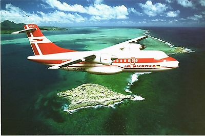 Air Mauritius ATR 42 Airline Issue. Aviation Airline Postcards