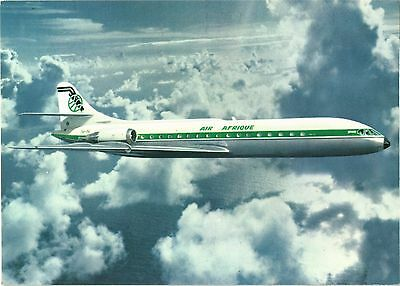 Air Afrique Caravelle Airline Issue. Aviation Airplane Postcard