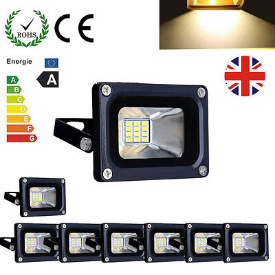 8X Warm White 10W LED Floodlight IP65 Waterproof Outdoor Flood Wash Light DC 12V