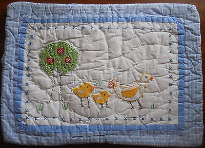 NWOT Pottery Barn Kids Chick Duck SMALL Quilted pillow Sham Cotton