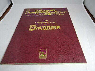 The Complete Book of Dwarves Advanced Dungeons and Dragons  TSR 2124 AD&D