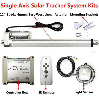 Complete Sunlight Track Electronic Single Axis Solar Tracker Tracking System Kit