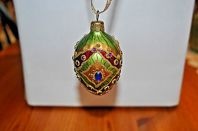 Joan Rivers Faberge Russian Inspired Egg Ornament - EXCELLENT CONDITION