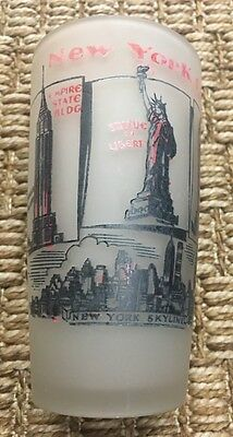 New York City Souvenir Glass Frosted