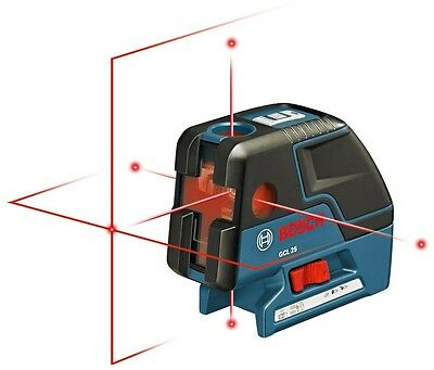 Alignment Laser w/Cross-Line GCL 25 Bosch 5-Point Self-Leveling Electrician Tool