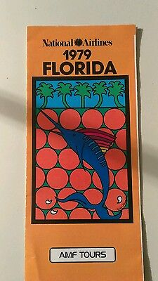 National Airlines 1979 Florida AMF Tours Brochure Pamphlet