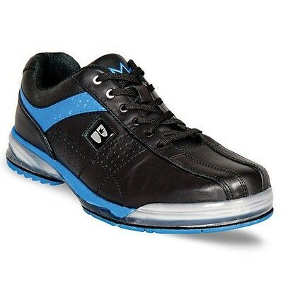 Mens TPU X Bowling Shoes with Interchangeable Soles/Heels Black/Blue Sizes 8-12