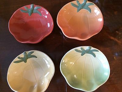 Set 4 Williams Sonoma Heirloom Tomato Dipping Bowls Appetizer Dishes 4 Colors