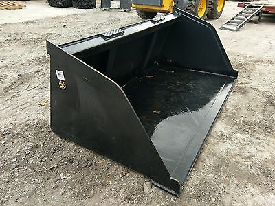 "New 60"" Skid Steer/Tractor Snow/Mulch 5' Bucket-for Bobcat, Case, Cat & more"