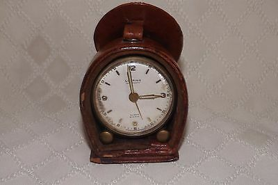 Vintage LOOPING Antimagnetic 8 Day Alarm clock with original case - Working-