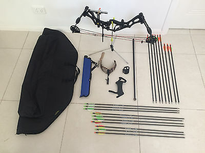 Hoyt Ruckus (RH) Compound Bow and Accessories