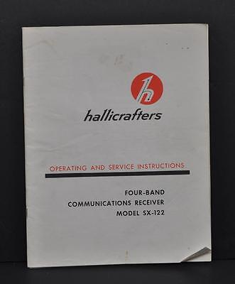 HALLICRAFTERS SX-122 OPERATING and SERVICE MANUAL ORIGINAL