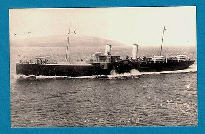 Postcard size Paddle Steamer Photo - PS Duchess of Buccleuch 1888 - Barrow 1900s