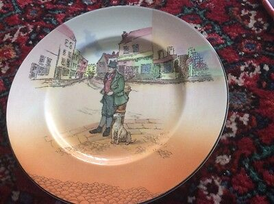 royal doulton dickens ware bill sykes plate