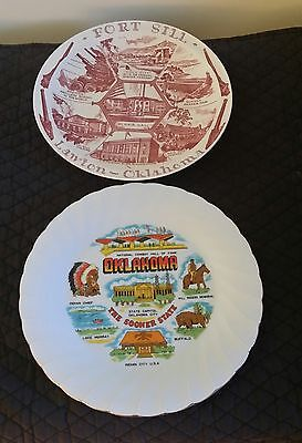 Pair Of Vintage Oklahoma Collectors Plates  Excellent Condition And Great Gift