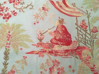 """Robert Allen """"CHINOISERIE BLUE"""" Upholstery Fabric Remnant, 25""""x22"""""""