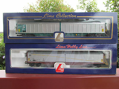 NEW 2x  LIMA HO EUROPEAN FREIGHT CARS (  WITH METAL WHEELS )