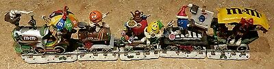 """M&M Christmas """"Holiday Express Train Set"""" DANBURY MINT RARE L@@K. See pictures."""