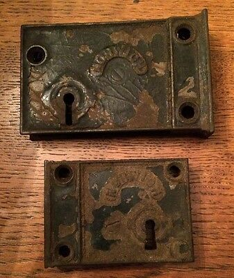 Pair Of VINTAGE CAST IRON NORWICH LOCKs No Keys