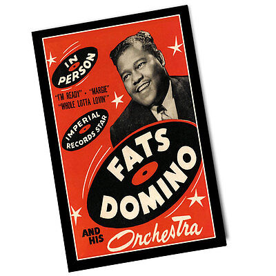 Two Fats Domino and His Orchestra Concert 11x17 Posters