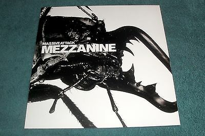 "Massive Attack PROMO POSTER FLAT for Mezzanine 12""LP/CD/1998 Virgin Records/US"