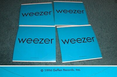 Weezer PROMO STICKER LOT for 1994 S/T (The Blue Album) CD/LP/RARE OFFICIAL US