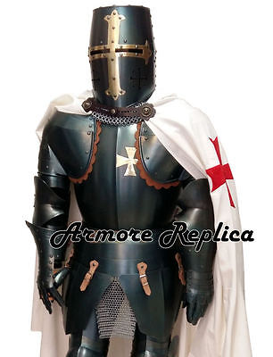 Medieval Wearable Knight Full Suit Of Armor 15 Century - Length 6 Feet & Stand