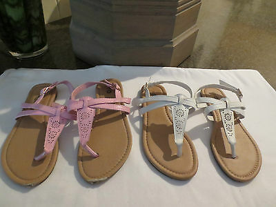 Girls Sandals  -Size 12 ( 2 Pairs )
