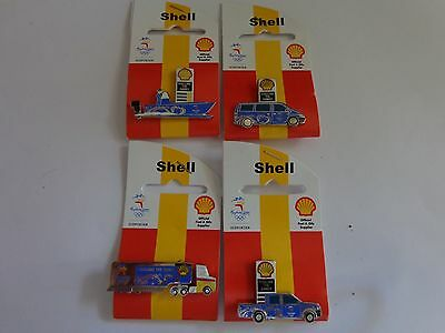 SHELL - Fuelling the Games - Sydney 2000 Olympic Game - Set of 4 Pins New