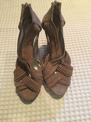 PeepToe Wedge Heels Sz 39 Neutral Colour BRAND NEW NEVER WORN