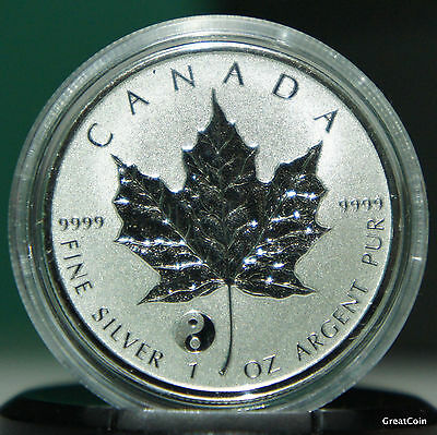 Canada  2016 Silver Maple Leaf WITH YYING & YANG Privy Reverse Proof MINT COND