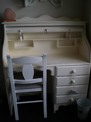 Desk/Shabby Chic/French Provincal style Rolltop  with Chair